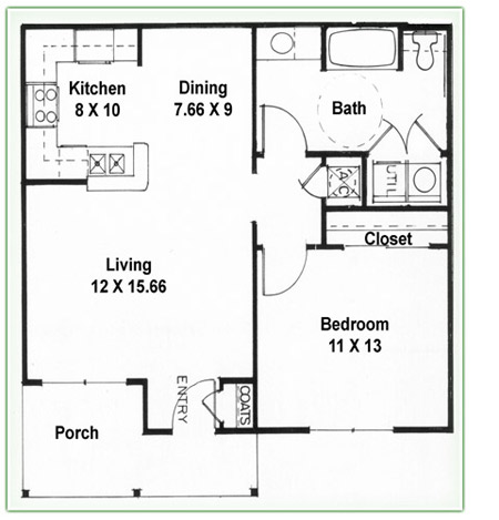 Haven communities retirement communities in houston for 2 bedroom 1 bath duplex floor plans